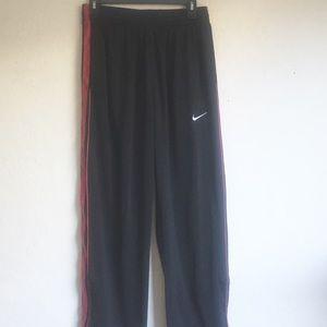 Nike Athletic Black Red Side Stripes Pants S